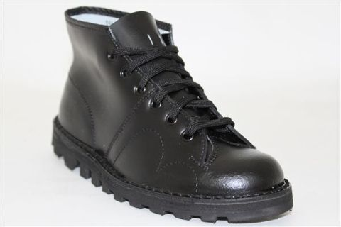 Black Monkey Boots By Grafter Leather Upper Black